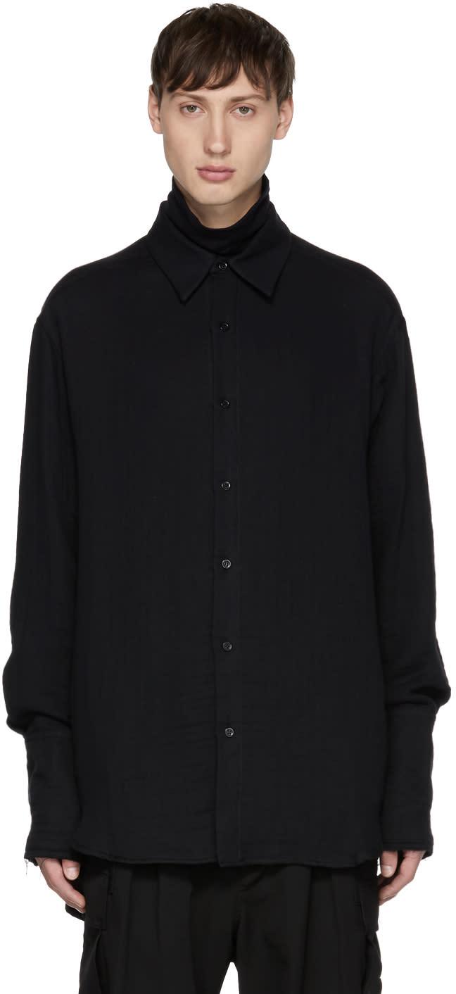 Image of Yang Li Black Oversized Shirt