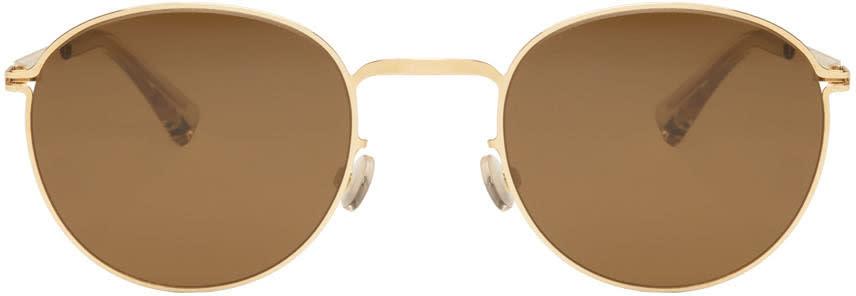 Image of Mykita Gold Jonte Sunglasses