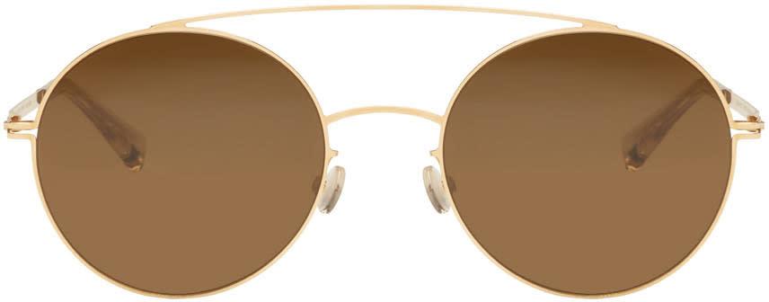 Image of Mykita Gold Aira Sunglasses