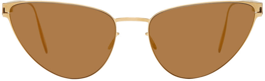 Image of Mykita Gold Bernhard Willhelm Edition Eartha Sunglasses