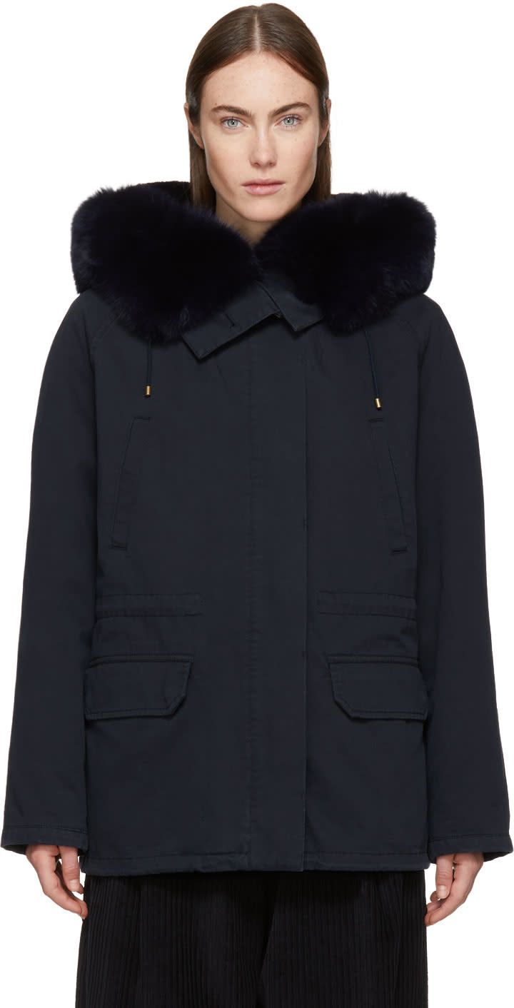 Image of Yves Salomon - Army Navy Classic Short Fur-lined Parka