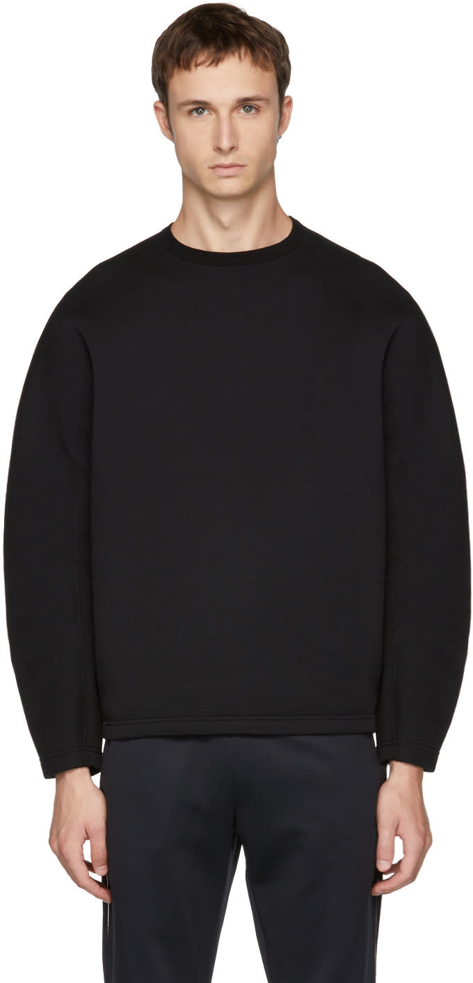 Image of Kolor Black Plain Sweatshirt