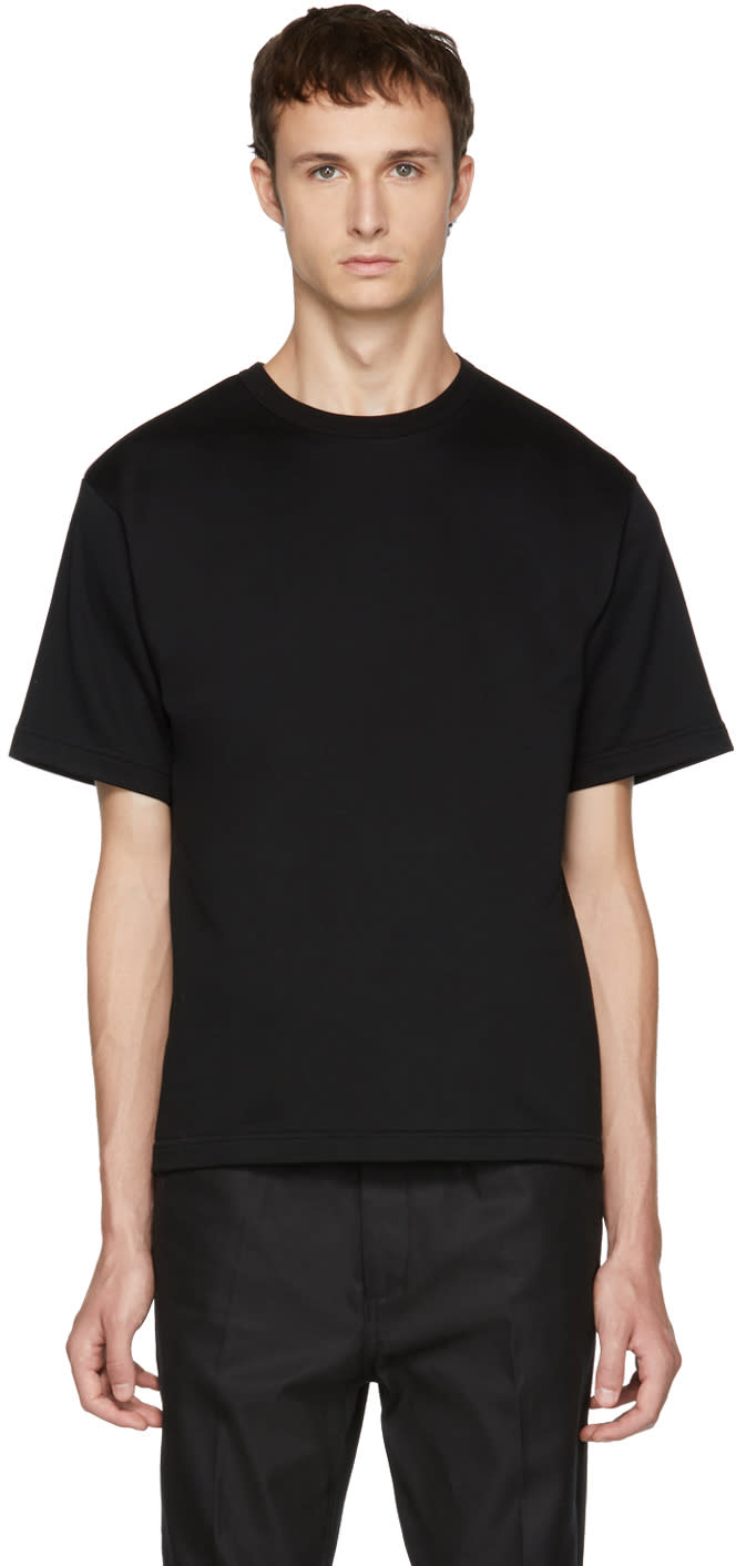 Image of Kolor Black Plain T-shirt