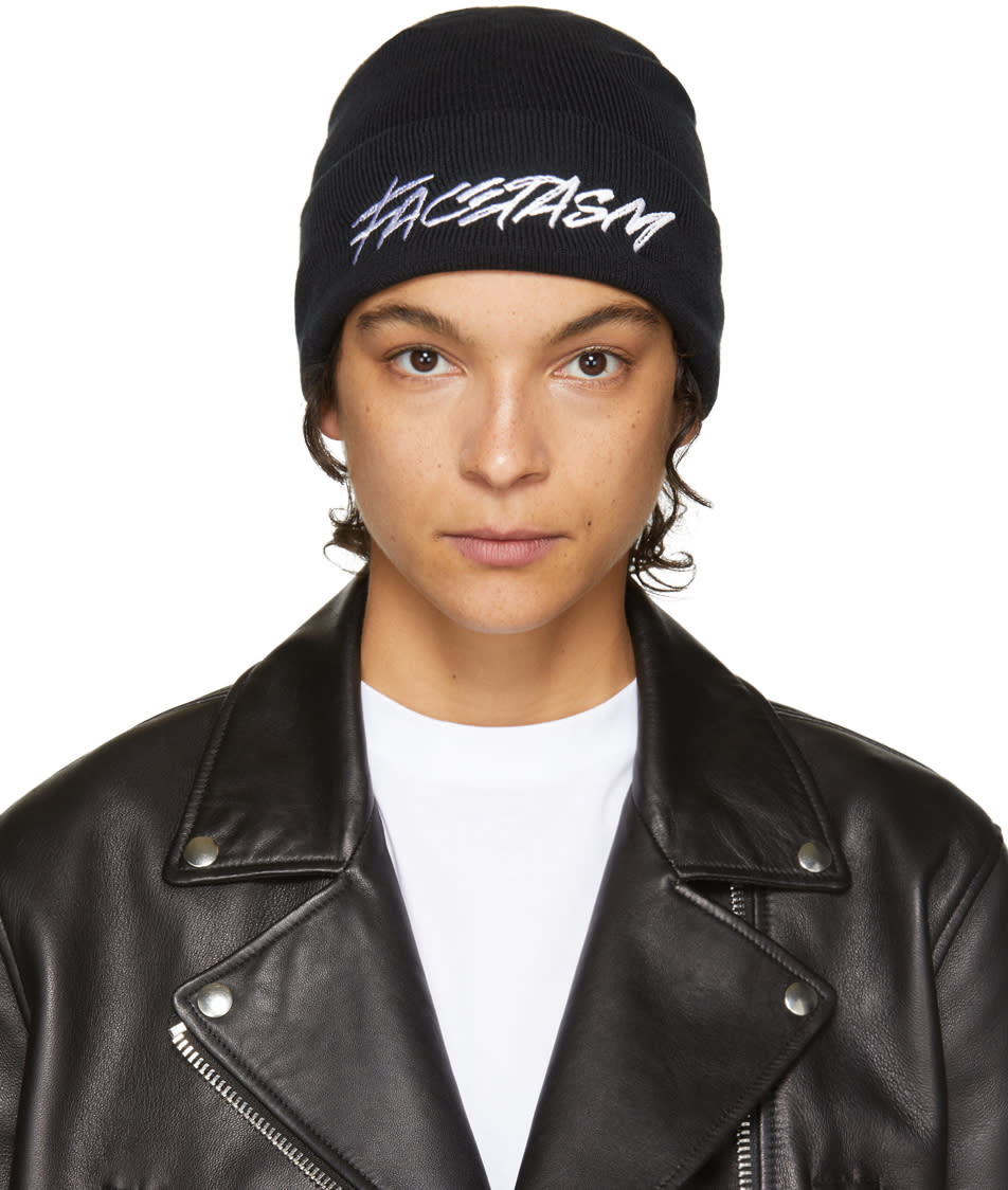 Image of Facetasm Black Logo Beanie