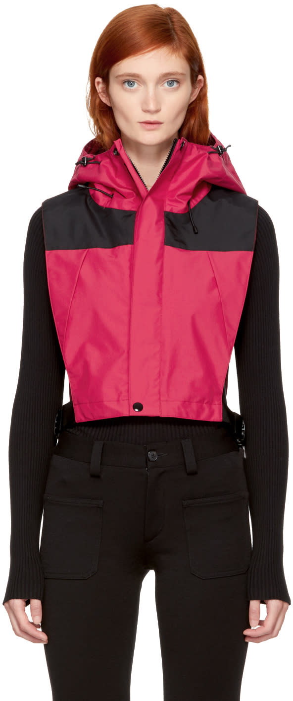 Image of Facetasm Red Windbreaker Bib Vest