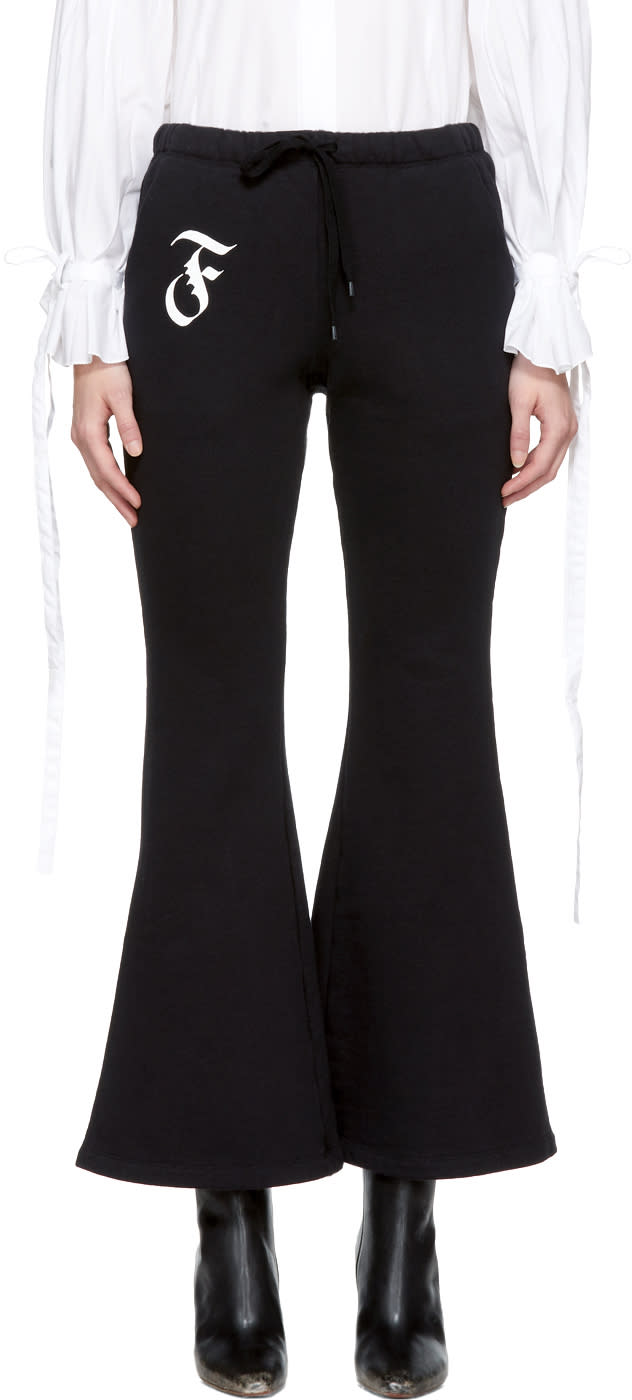 Image of Facetasm Black Flare Lounge Pants