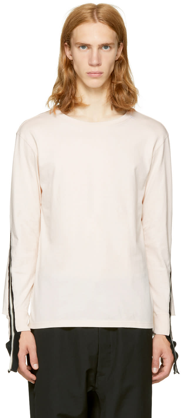 Image of Facetasm Pink Long Rib Sleeve T-shirt