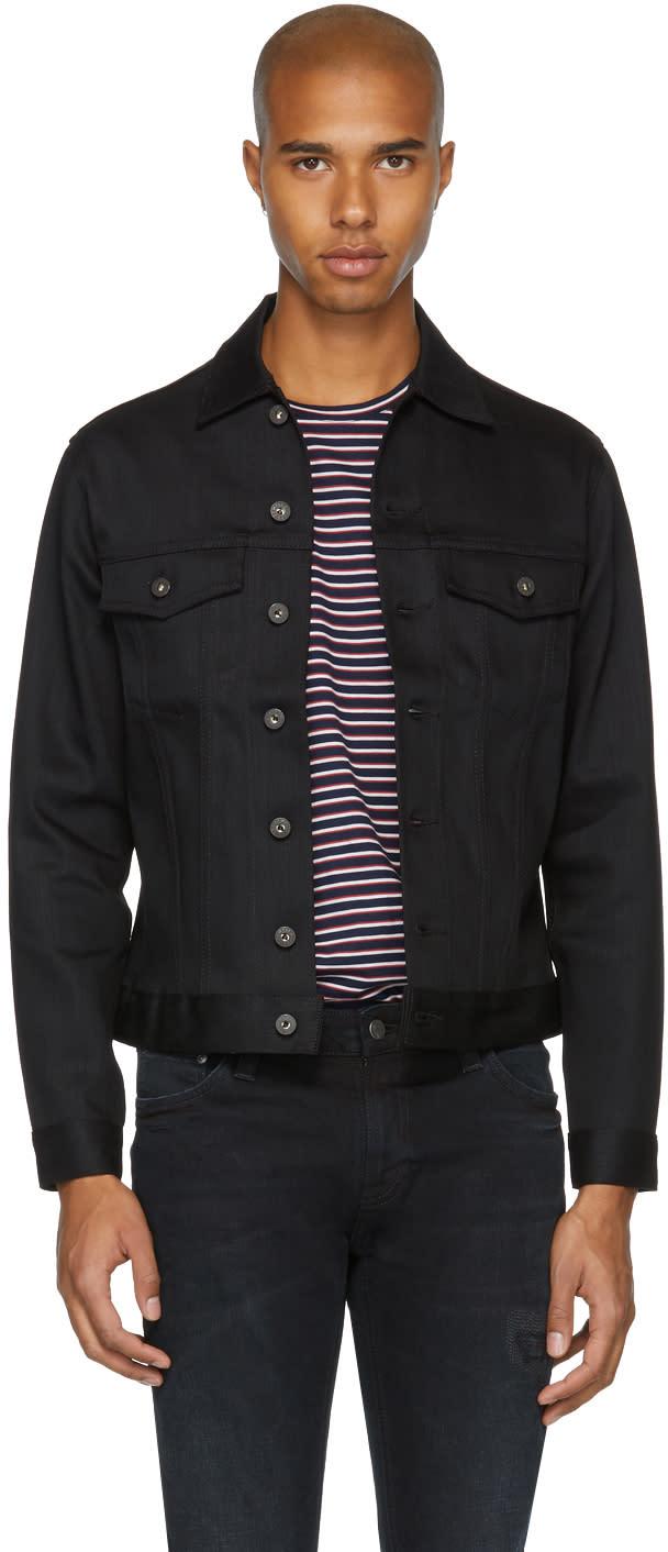 Image of Naked and Famous Denim Black Stretch Denim Jacket