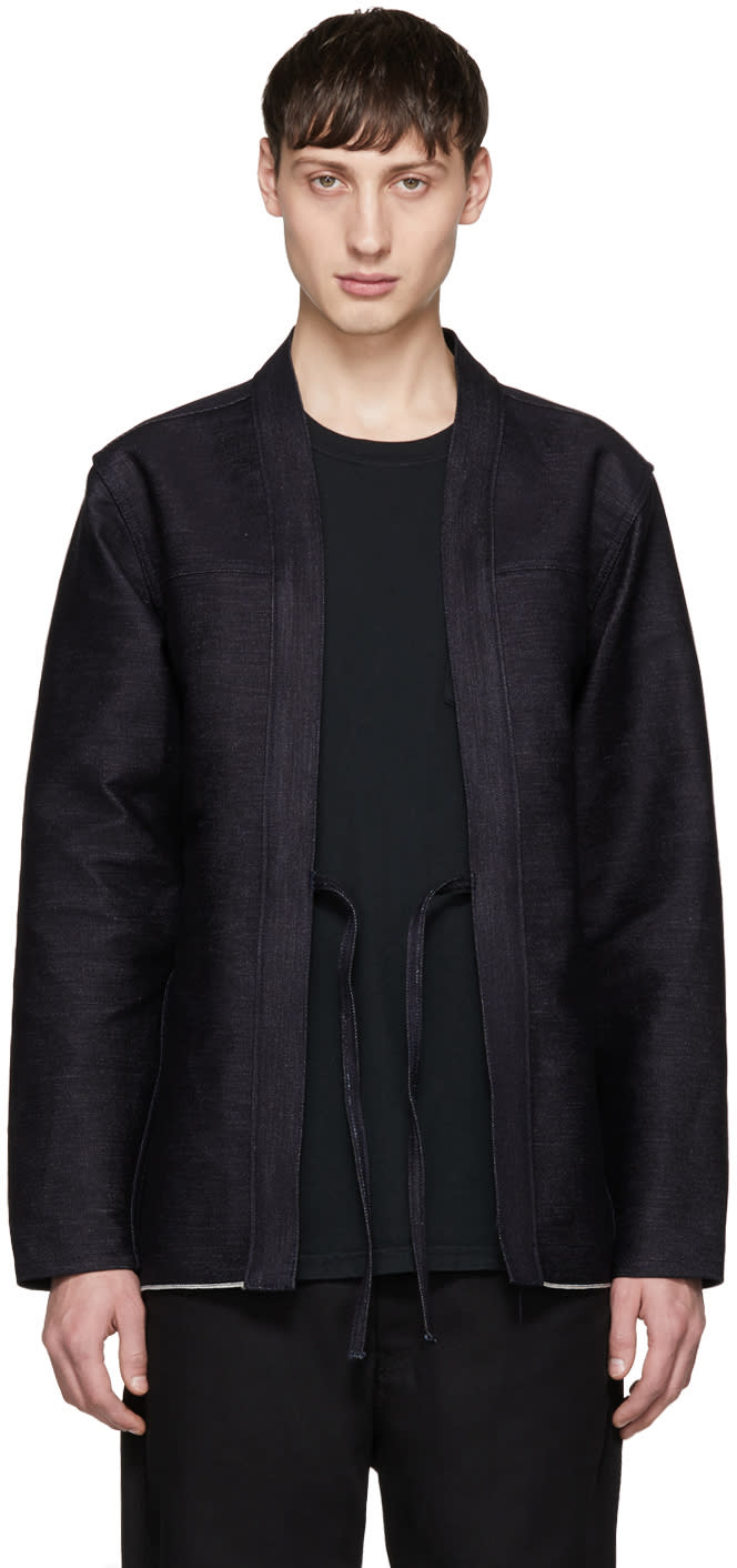 Image of Naked and Famous Denim Indigo Denim Kimono Jacket