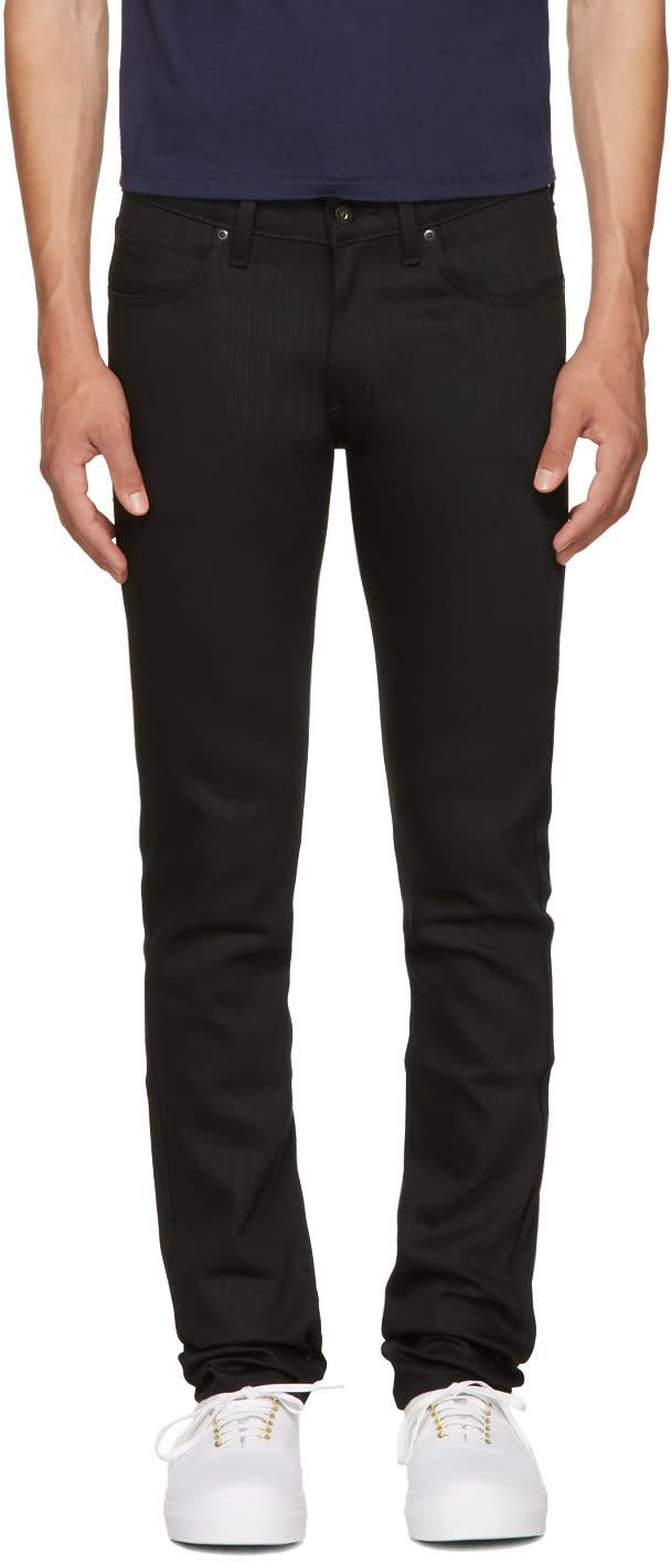 Image of Naked and Famous Denim Black Super Skinny Guy Jeans