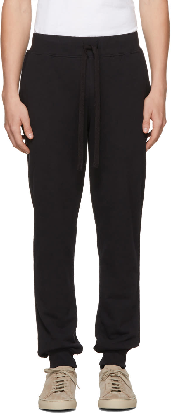 Image of Naked and Famous Denim Ssense Exclusive Black Slim Jogger Lounge Pants