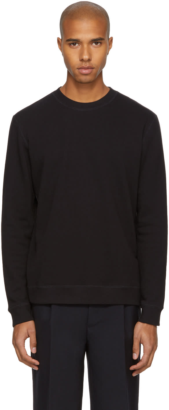 Image of Naked and Famous Denim Black French Terry Sweatshirt