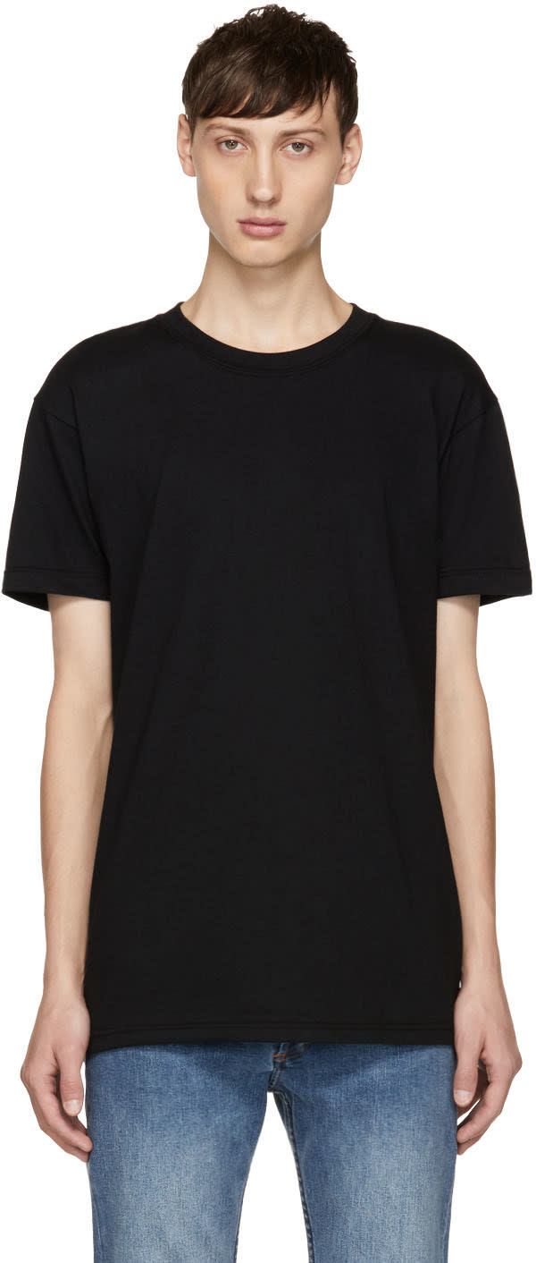 Image of Naked and Famous Denim Black Ring-spun T-shirt
