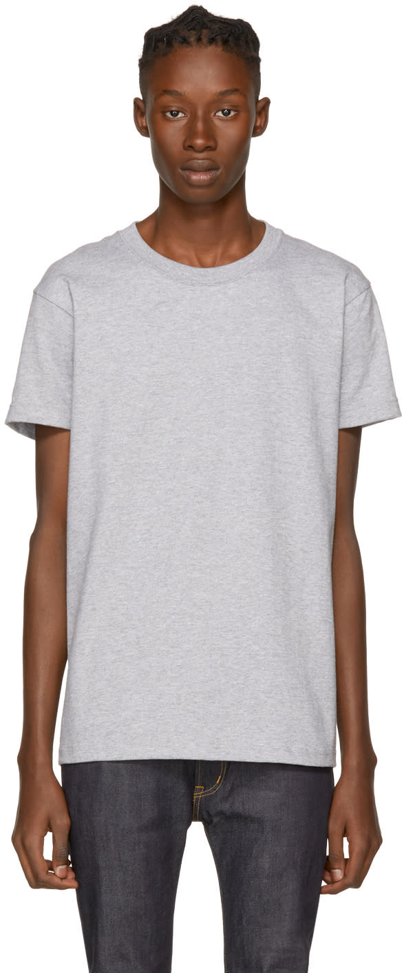 Image of Naked and Famous Denim Grey Ringspun T-shirt