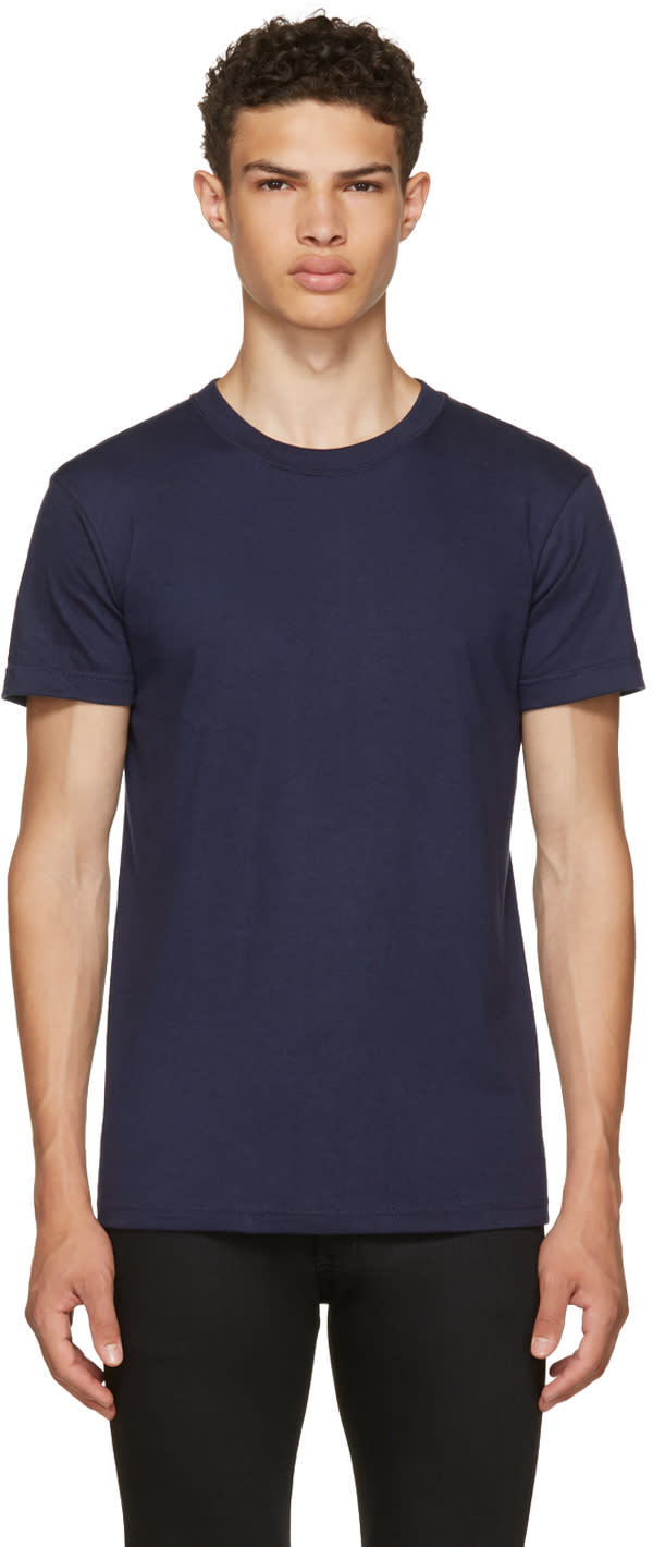 Image of Naked and Famous Denim Navy Ring Spun T-shirt