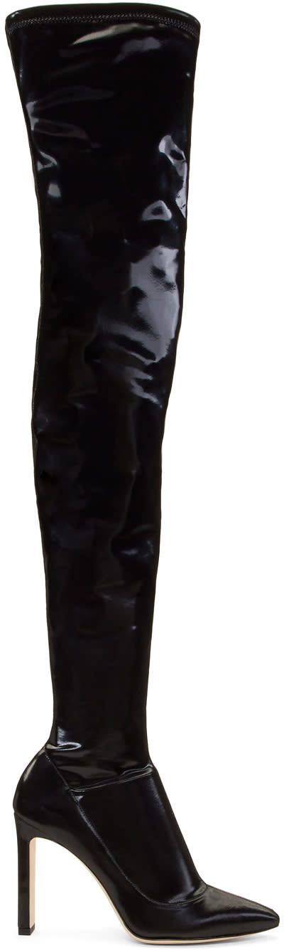 Jimmy Choo Black Lorraine Over-the-knee Boots