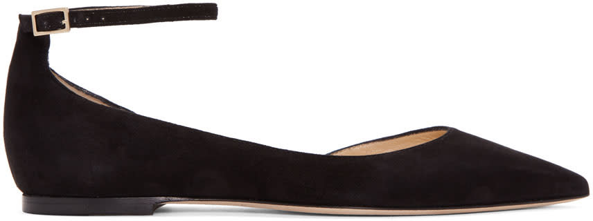Jimmy Choo Black Lucy Flats