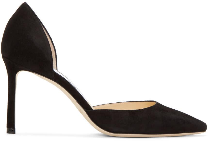 Jimmy Choo Black Suede Esther Dorsay Heels