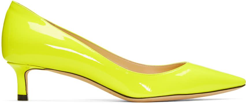 Jimmy Choo Yellow Patent Romy Heels