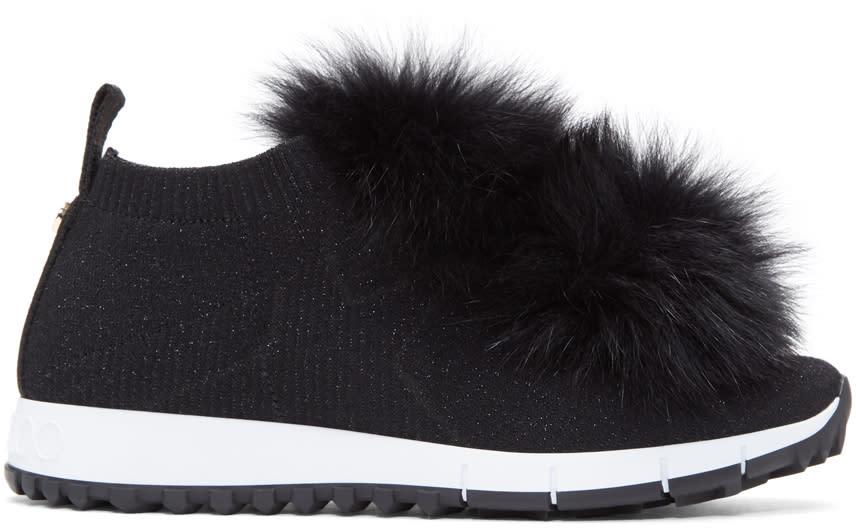a33b204e21a Jimmy Choo Black Norway Pom Pom Sneakers