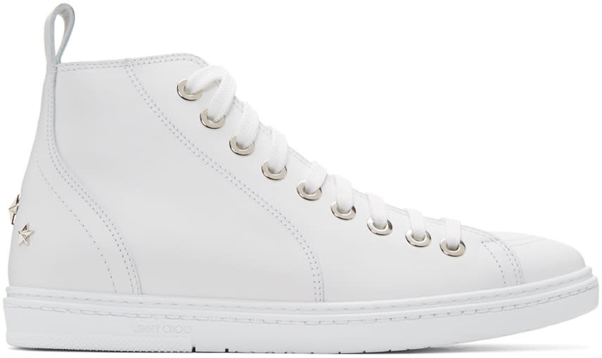 Jimmy Choo White Star Colt High-top Sneakers
