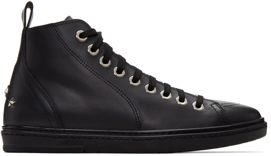 Jimmy Choo Black Star Colt High-top Sneakers