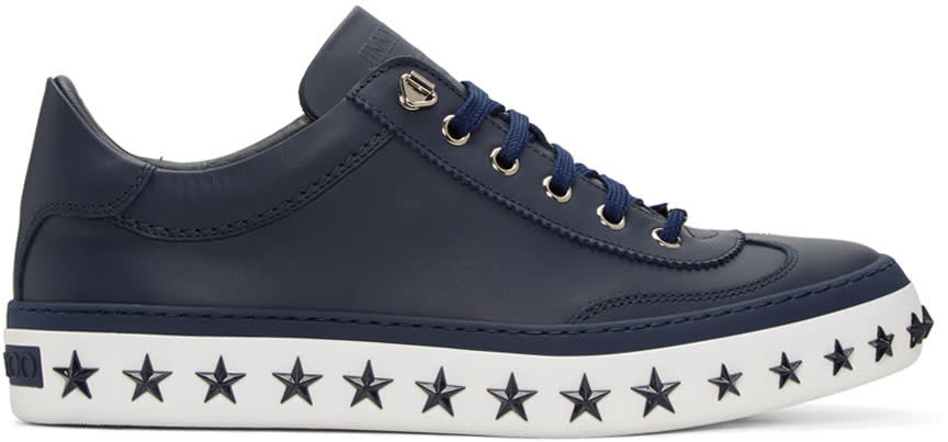 Jimmy Choo Navy Star Sole Ace Sneakers