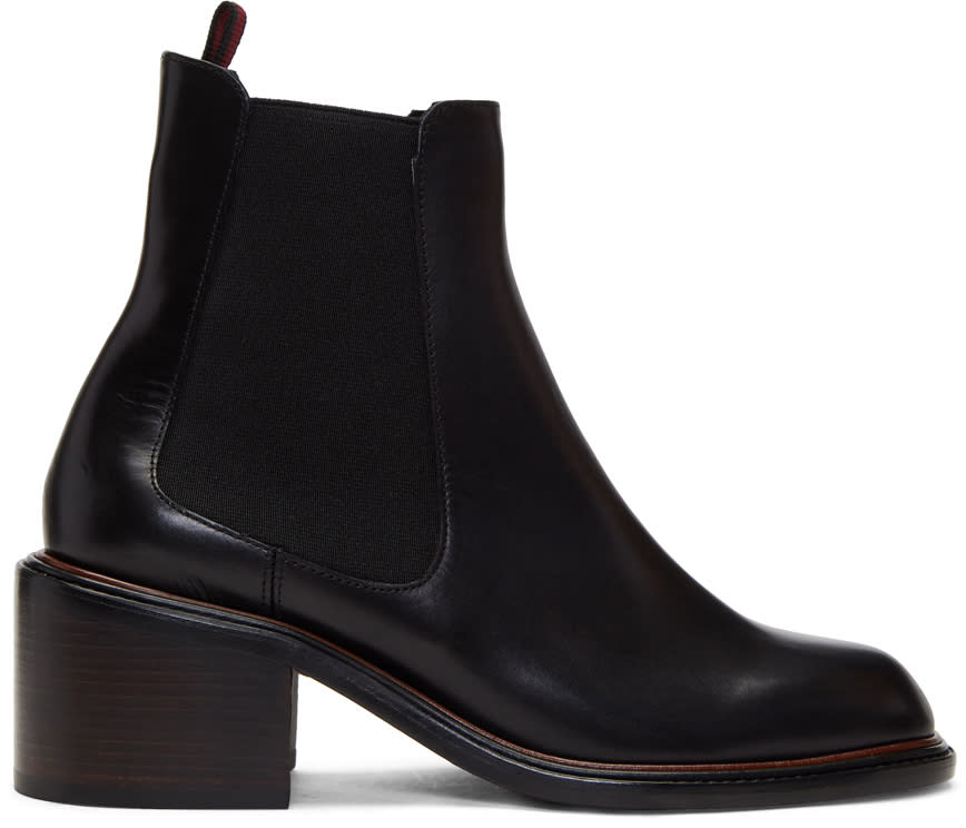 Image of Robert Clergerie Black Snoots Boots