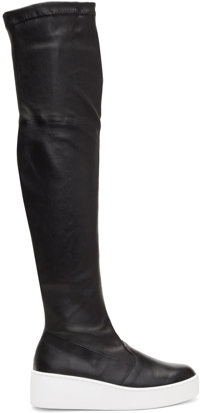 Robert Clergerie Black Tinatua Tall Boots