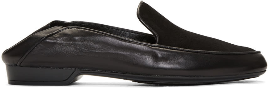 Image of Robert Clergerie Black Fani Loafers