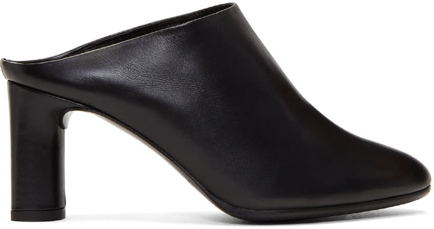 Image of Robert Clergerie Black Eolo Mules