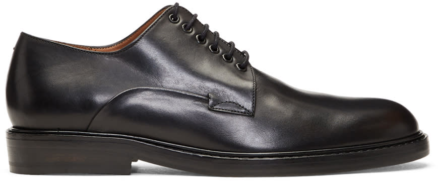 Image of Robert Clergerie Black Lace-up Derbys