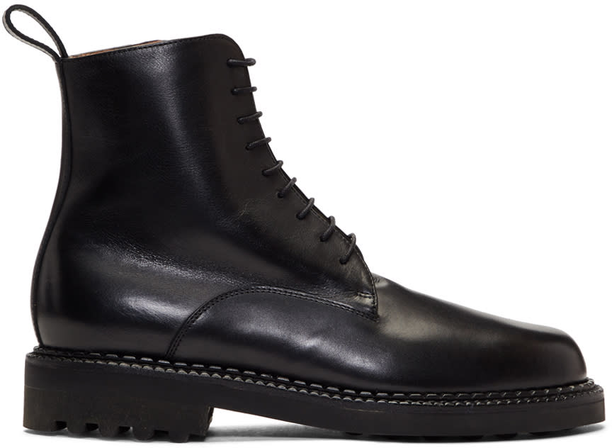 Image of Robert Clergerie Black Dace Boots