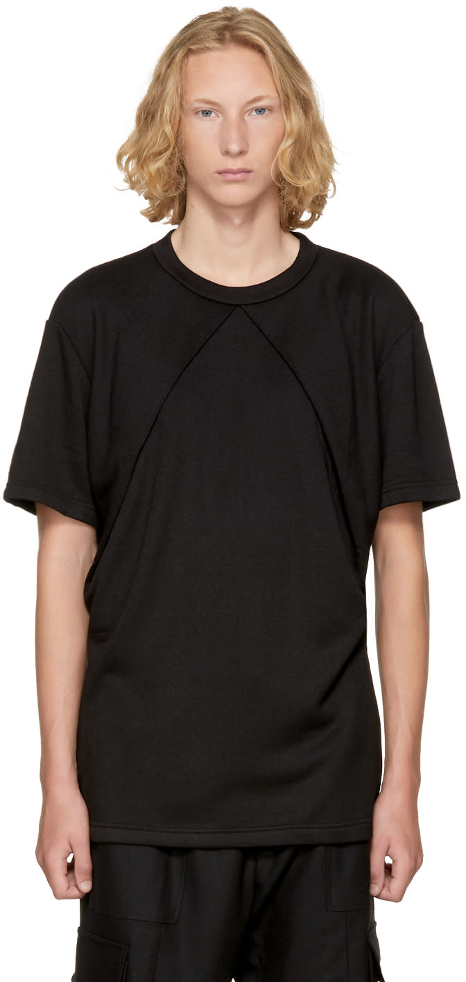Image of D.gnak By Kang.d Black Double Oblique T-shirt