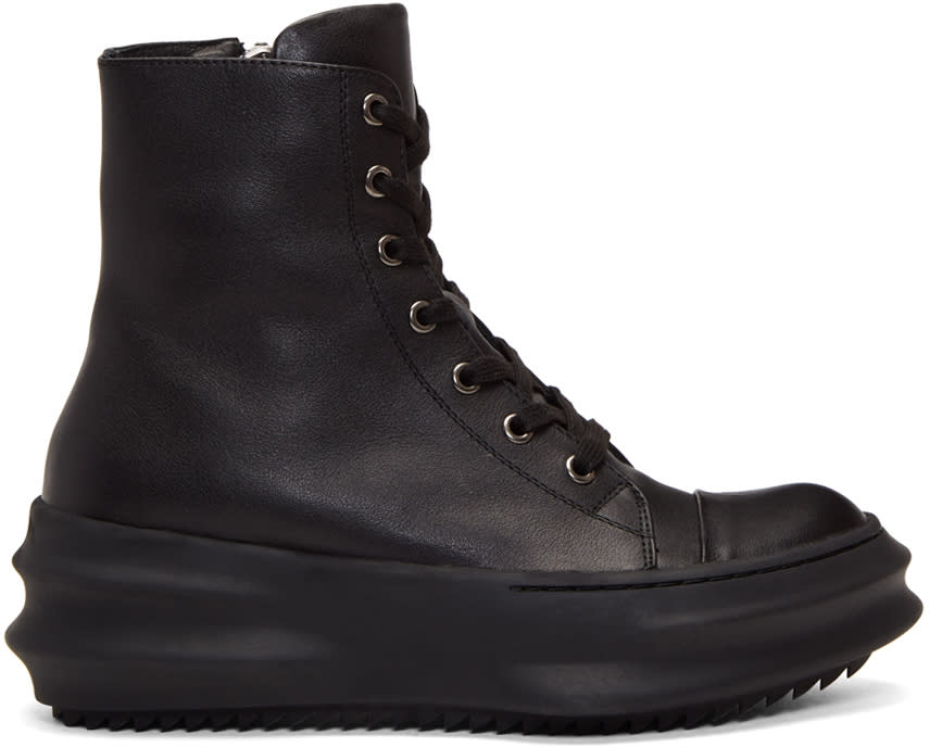 D.gnak By Kang.d Black Leather High-top Sneakers
