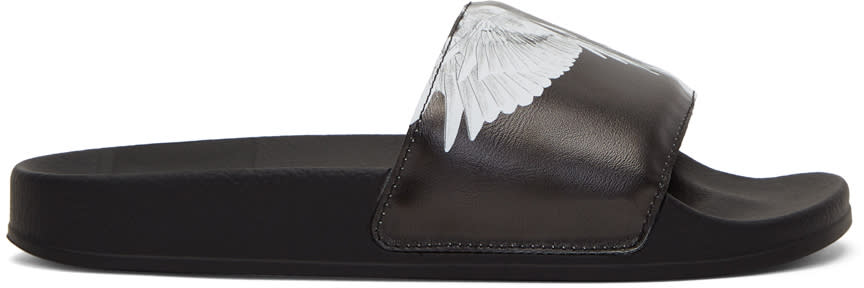 Image of Marcelo Burlon County Of Milan Black Aish Slides