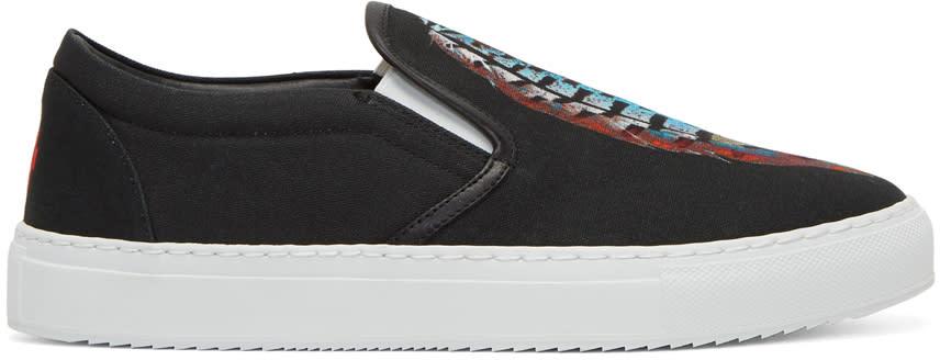 Marcelo Burlon County Of Milan Black Genek Slip-on Sneakers