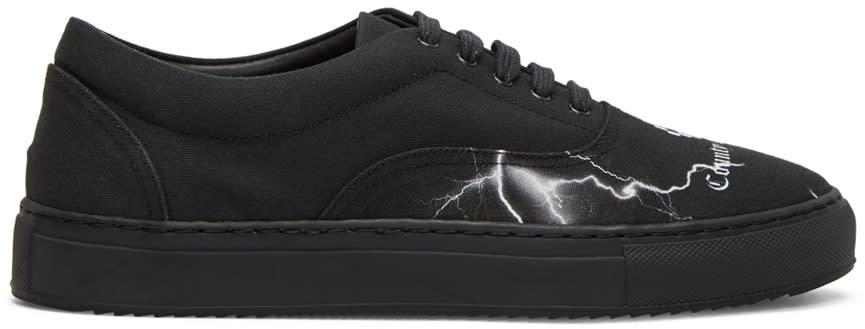 Marcelo Burlon County Of Milan Black Telgo Low Rise Sneakers