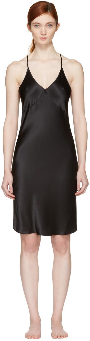 Fleur Du Mal Black T-strap Slip Dress