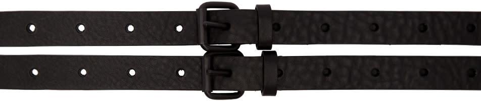 Image of Haider Ackermann Black Double Buckle Belt