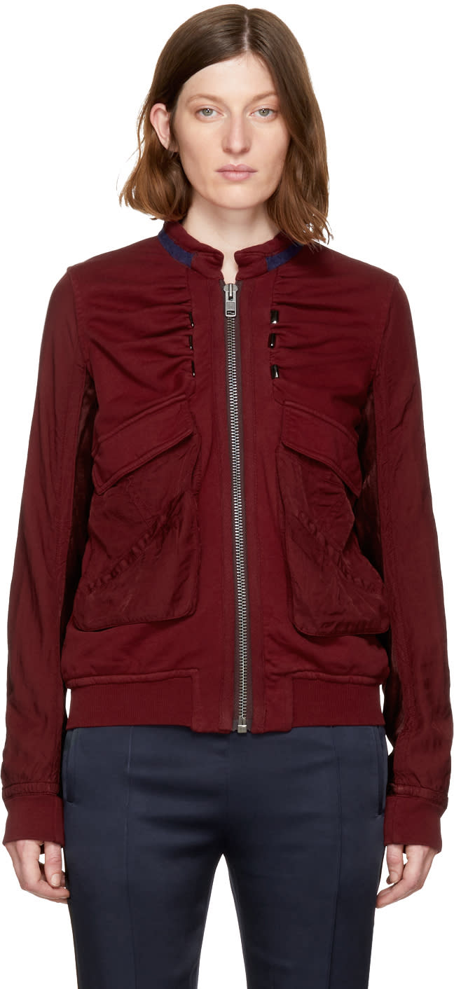 Haider Ackermann Red Perth Bomber Jacket