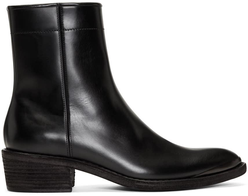 ブラック ジップ チェルシー ブーツ