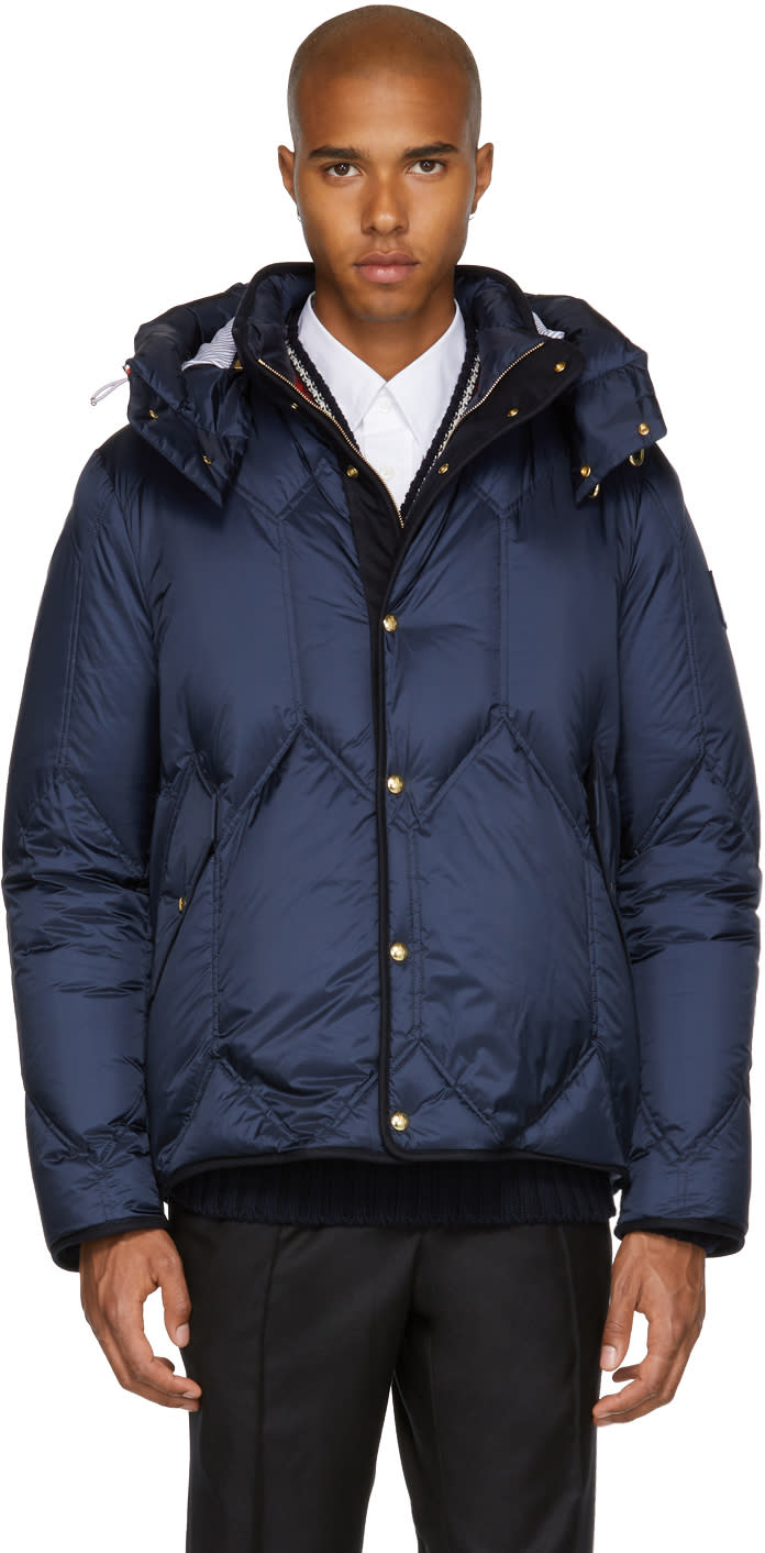 a09d73a45 Moncler Gamme Bleu Navy Down Hooded Short Parka