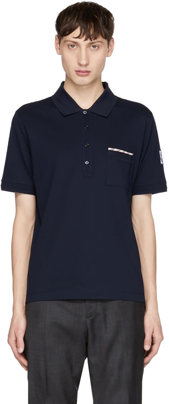 74d4596c3 Moncler Gamme Bleu Navy Pocket Polo