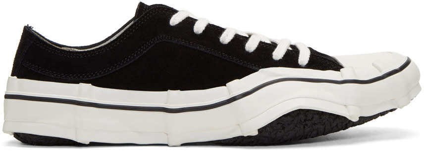 Miharayasuhiro Black Suede Imperfect Sole Sneakers