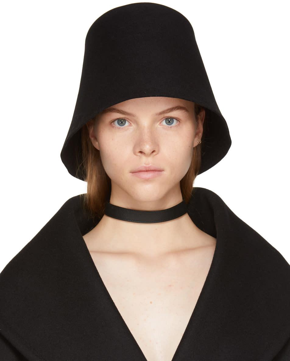 Image of Jacquemus Black le Chapeau Avignon Hat