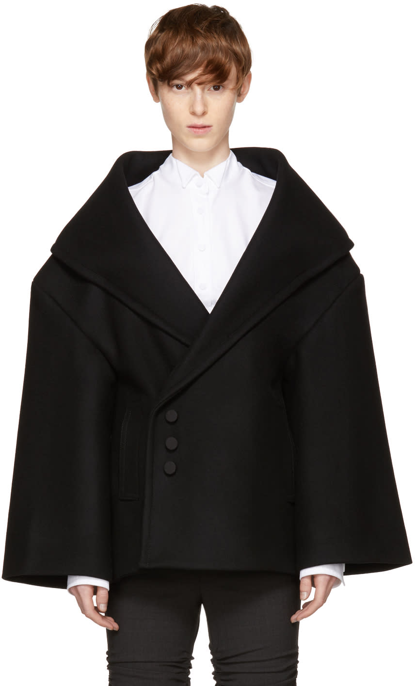 Image of Jacquemus Black le Caban Short Coat