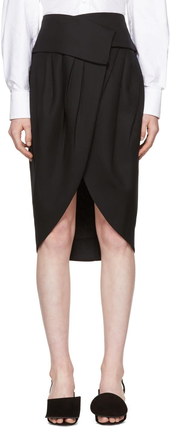 Image of Jacquemus Black la Jupe Porte-feuille Skirt