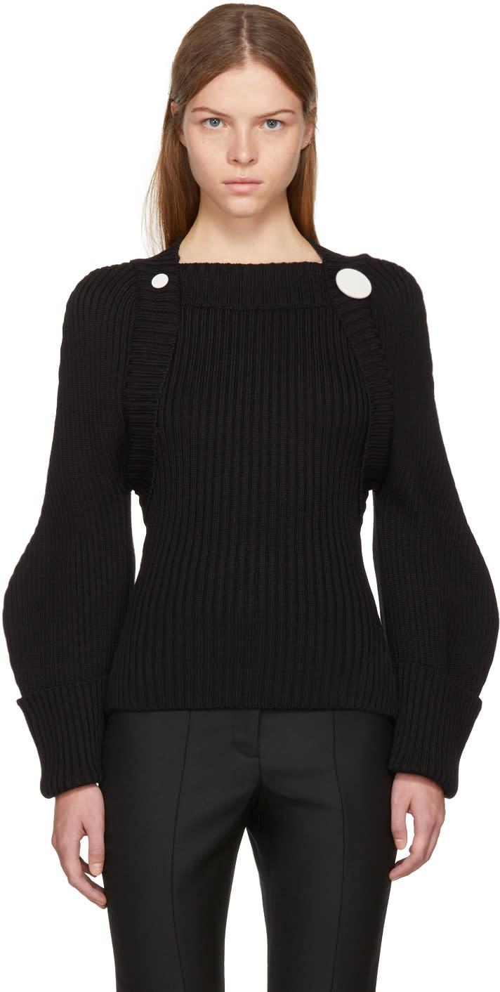 Image of Jacquemus Black la Maille Bolero Sweater
