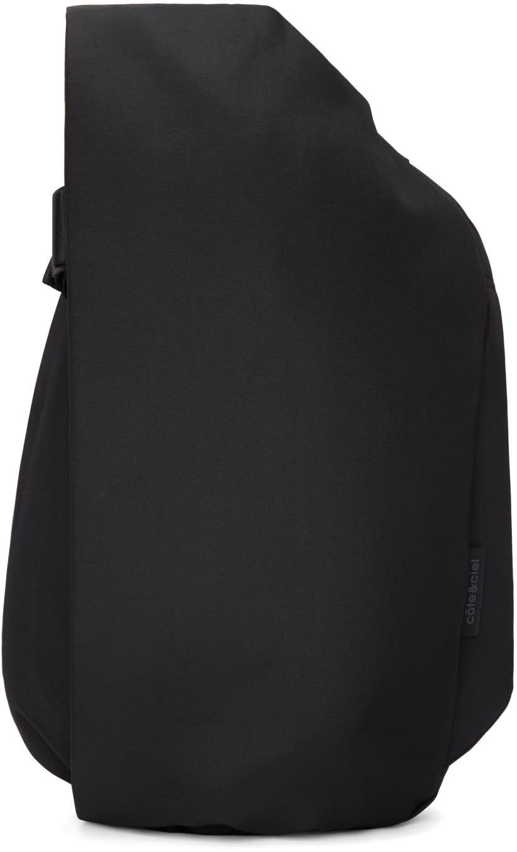 Image of Côte and Ciel Black Medium Isar Eco Yarn Backpack